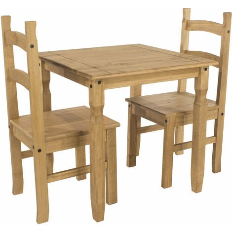 Cortan square dining table & 2 chair SET