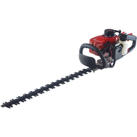 Cortasetos de gasolina motor 22.5cc cuchilla 800 W 60cm manillar giratorio - WYCTIN