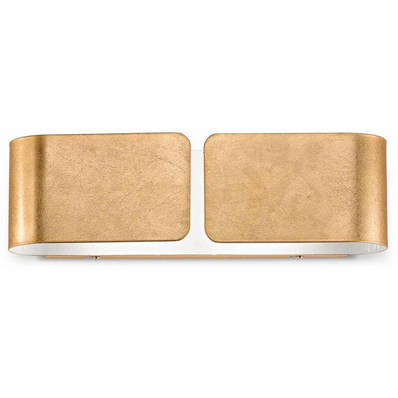 Wandleuchte Gold CLIP 2 Lampen Breite 44 cm - 01-IDEAL LUX