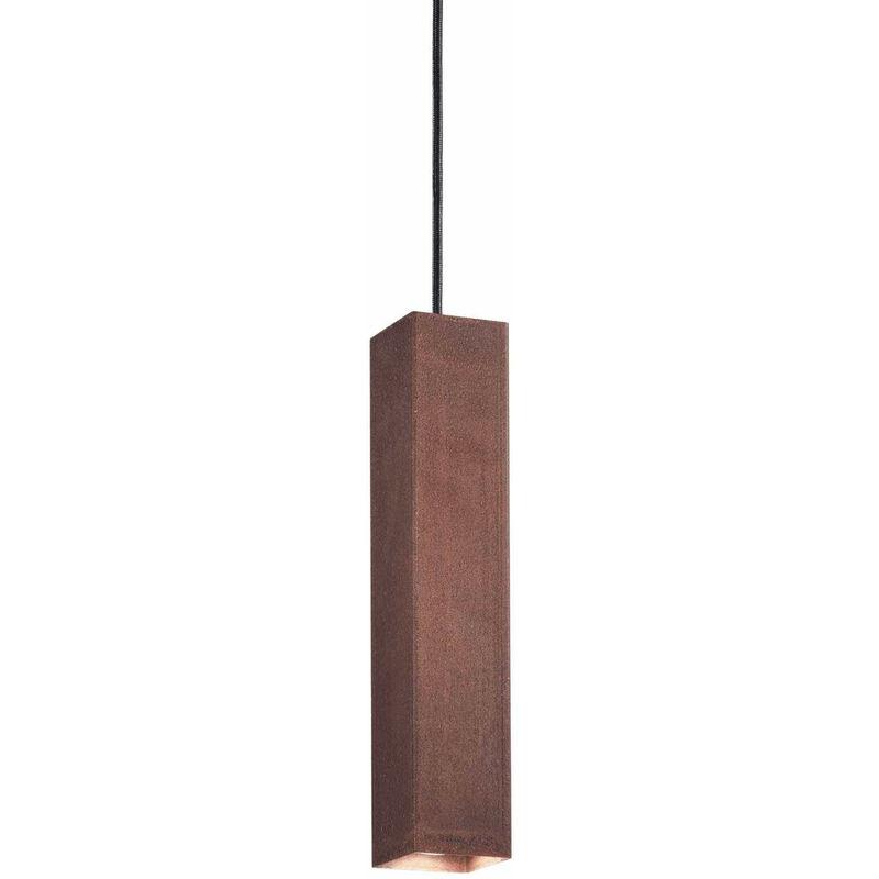 01-ideal Lux - Corten SKY Pendelleuchte 1 Glühbirne