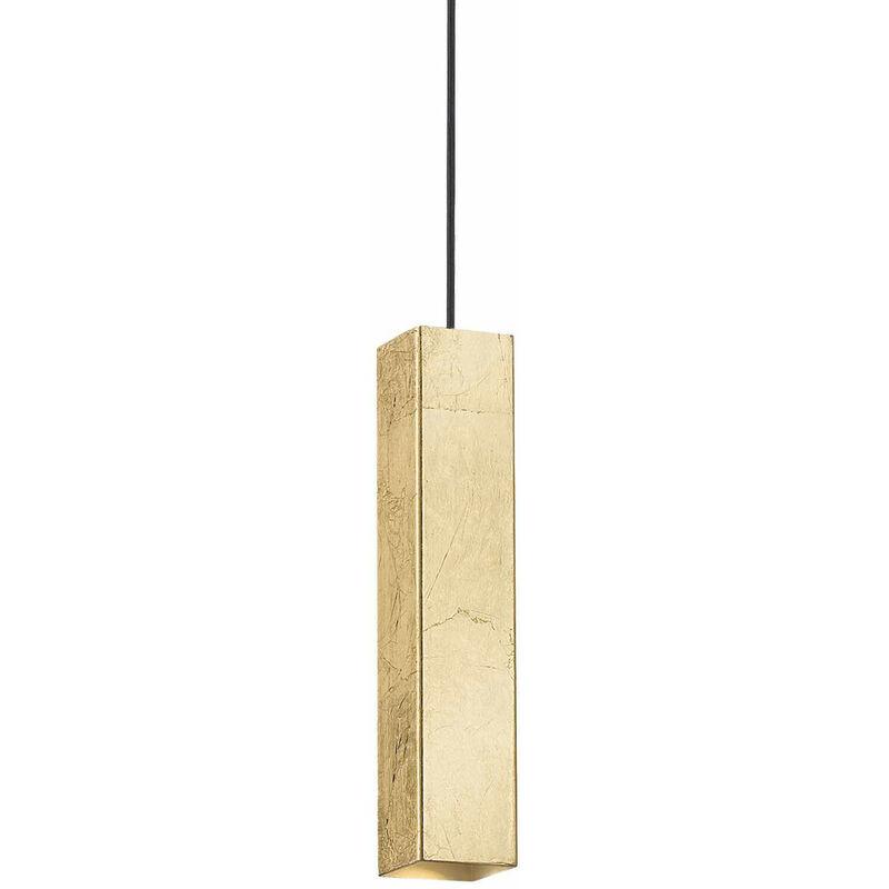 01-ideal Lux - Golden SKY Pendelleuchte 1 Glühbirne