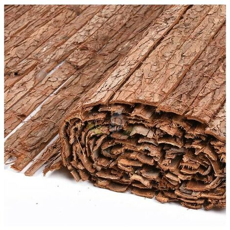 Corteza natural simple cara 1 x 5 metros, util para ocultación, sombraje o delimitación