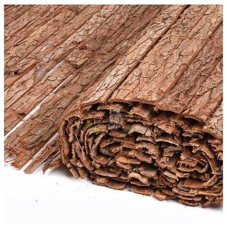 Corteza natural simple cara 2 x 5 metros, util para ocultación, sombraje o delimitación