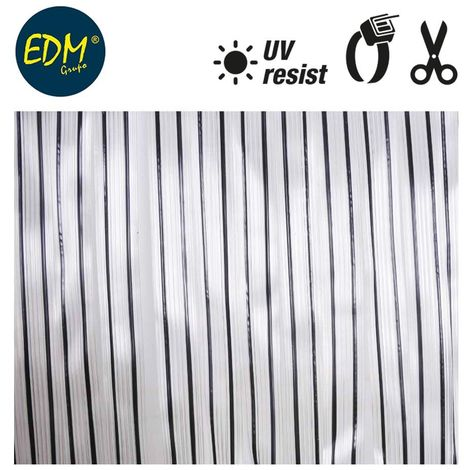 Cortina cinta transparente - Negro 90x210cm 32 tiras EDM