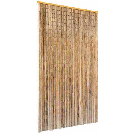 Cortina de bambú para puerta contra insectos 100x200 cm