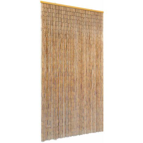 Cortina de bambú para puerta contra insectos 100x220 cm