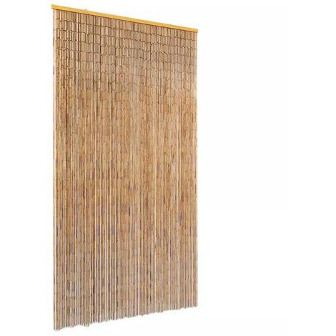 Cortina de bambu para puerta contra insectos 100x220 cm