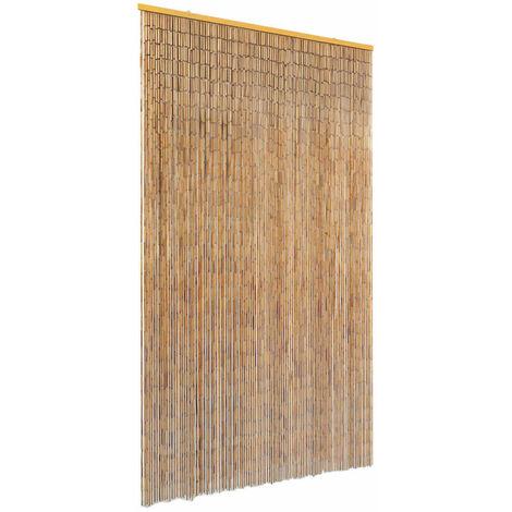 Cortina de bambú para puerta contra insectos 120x220 cm