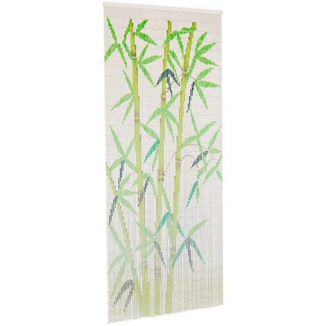 Cortina de bambu para puerta contra insectos 90x200 cm