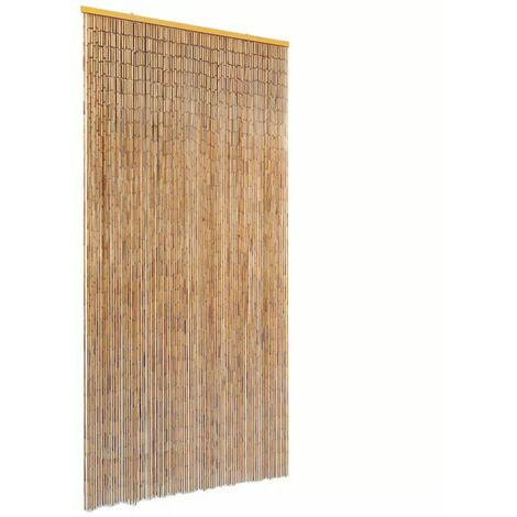 Cortina de bambu para puerta contra insectos 90x220 cm