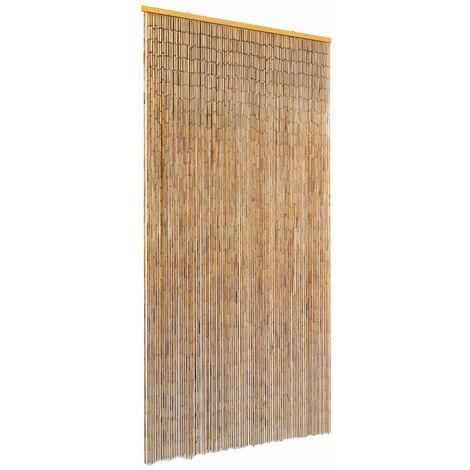 "main image of ""Cortina de bambú para puerta contra insectos 90x220 cm - Marrón"""