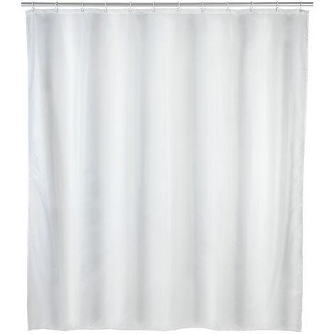Cortina de baño anti-moho uni blanco