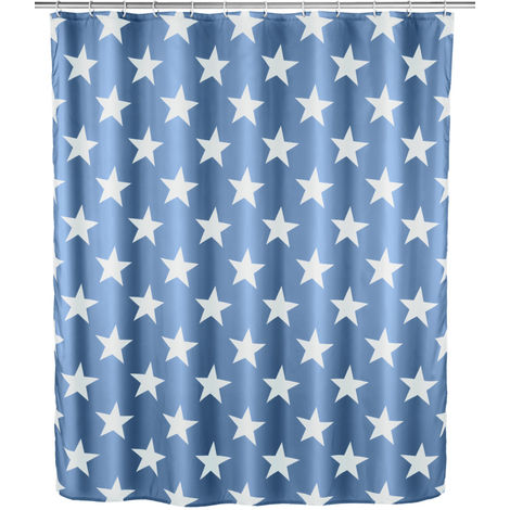 Cortina de ducha anti-moho Stella azul marino