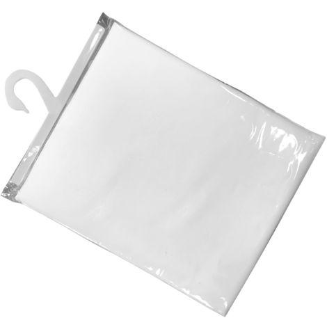 Cortina de ducha blanca lisa 180x200cm. (Mirtak S-57242)