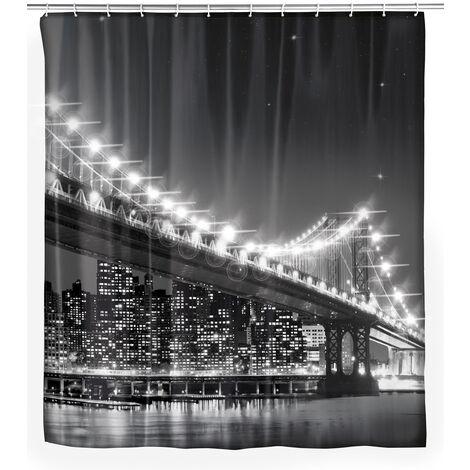 Cortina de ducha con LED Brooklyn Bridge WENKO