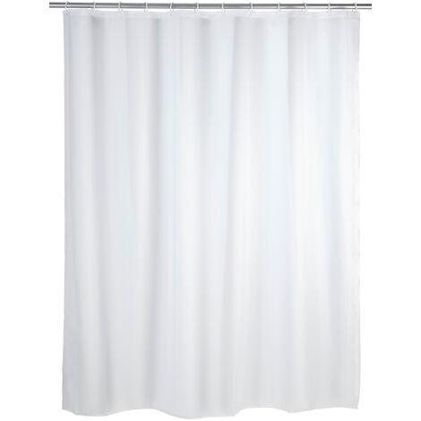 Cortina de ducha Unicolor blanca WENKO