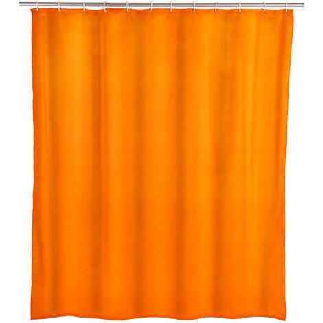 Cortina de ducha Unicolor naranja antimoho WENKO