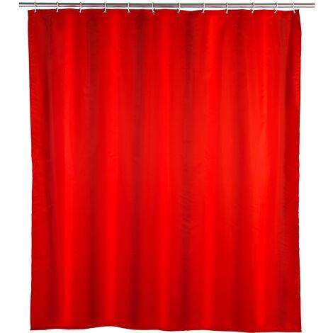 Cortina de ducha Unicolor Roja WENKO