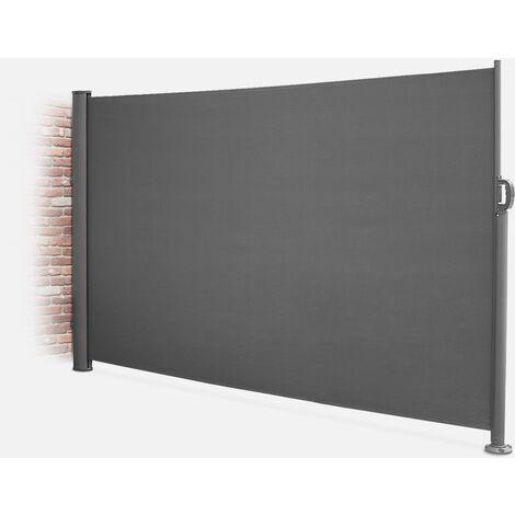 Cortina de exterior rectangular, Poliéster, Gris, 300x160