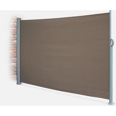 Cortina de exterior rectangular, Poliéster, Marrón, 300x160