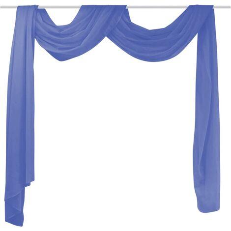 Cortina de gasa 140x600 cm azul klein
