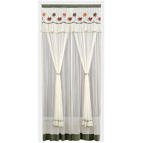 Cortina de gasa anti-mosquitos, cortina de puerta de doble capa, cortina de malla de red de mosquitos sin perforaciones