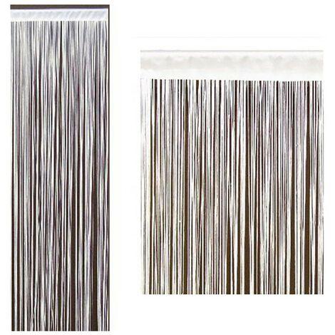 Cortina de hilos blanco (90x200 cm)