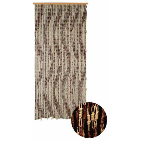 Cortina de puerta Espiral de maíz CONFORTEX para puerta - 90 x 200 cm - marrón beige - Marron