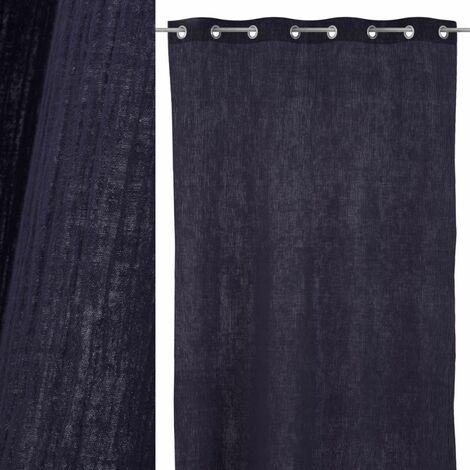 Cortina de salón azul contemporánea de algodón de 260x130 cm