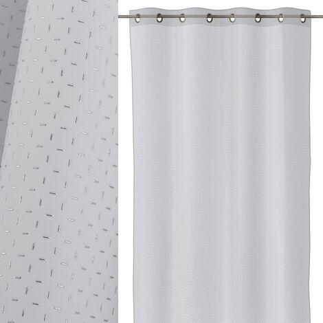 Cortina de salón blanca minimalista de poliéster de 260x140cm