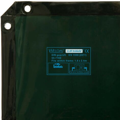 Cortina de soldadura LAVAshield® 1,74 x 2,34 m - (No biombo)