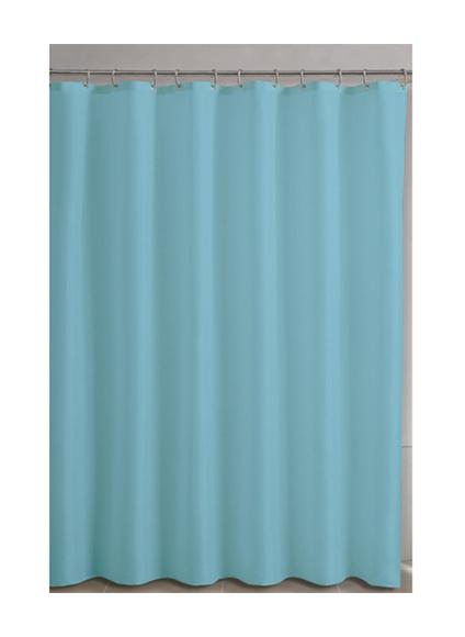MAURER Cortina Ducha Tela Azul Lisa 180x200 cm,