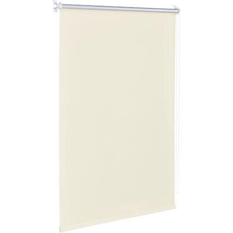 Cortina enrollable - protector solar y de luz - opaca- no necesita taladrar - 40 x 175cm - crema