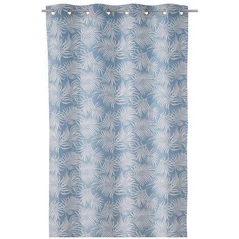 Cortina hojas de palmera azul de poliéster de 140x260 cm