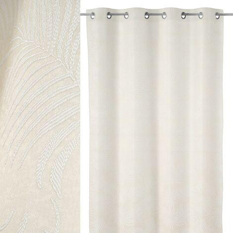 Cortina hojas de palmera beige de poliéster de 140x260 cm