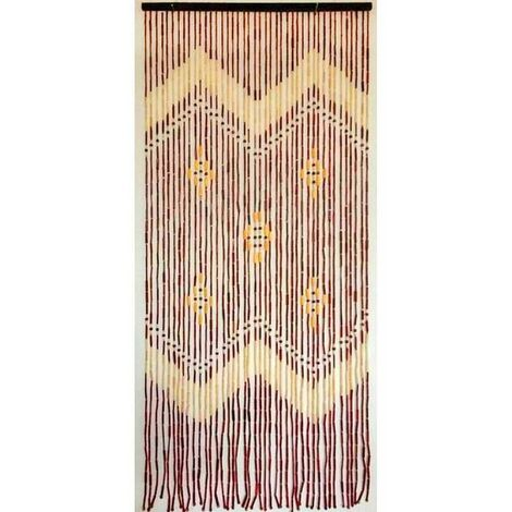 Cortina para puerta de bambú 90 x 200 cm