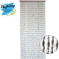Hogar y Mas Cortina para Puerta Exterior de Bamb/ú Natural Cotina de Madera Sostenible Exenta de Pl/ásticos 90 x 200cm