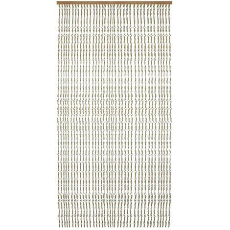 Cortina para Puerta de Bambú y Sisal Natural, en color Natural. Sostenible, exenta de plásticos (90cm X 190cm) - Hogar y Más
