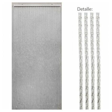 """main image of """"Cortina puerta 90 tiras pvc 90x200 cm."""""""