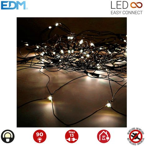Cortina red easy-connect 2x1,5mts 90 leds blanco calido 30v (interior-exterior) edm total 1,62w