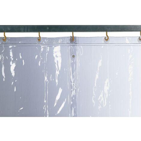 Cortina soldadura transparente / cristalina