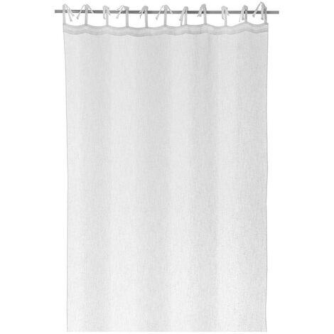Cortina visillo blanca de microfibra de 260x140 cm