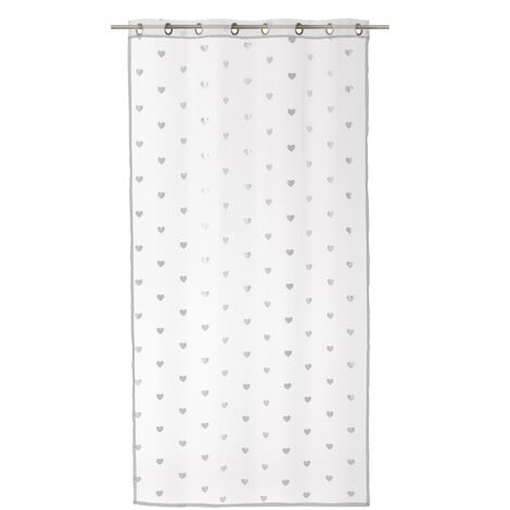 Cortina visillo blanca de poliéster de 140x260 cm