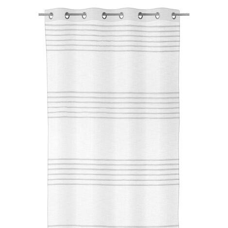 Cortina visillo blanca moderna de microfibra de 260x140 cm