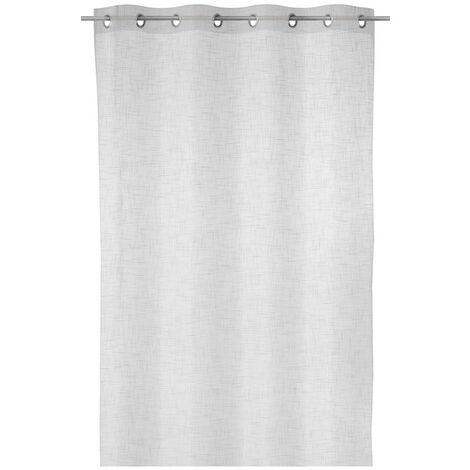 Cortina visillo con textura blanca de poliéster de 140x260cm