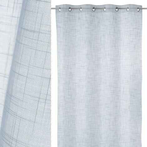 Cortina visillo con textura gris de poliéster de 140x260cm