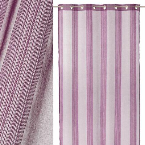 Cortina visillo lila de microfibra de 260x140 cm