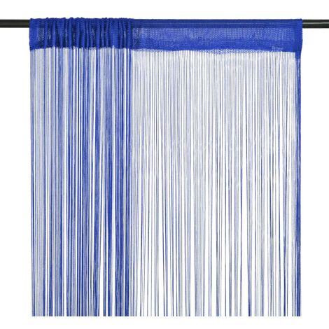 Cortinas de flecos 2 piezas 100x250 cm azul
