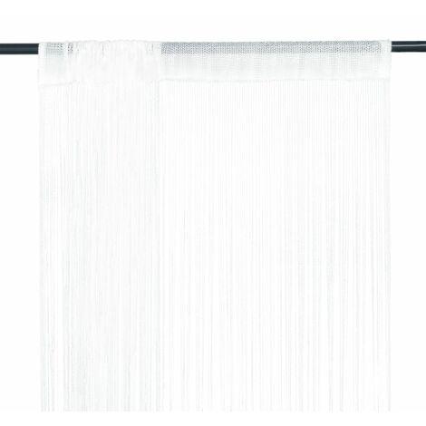 Cortinas de flecos 2 piezas 100x250 cm blancas