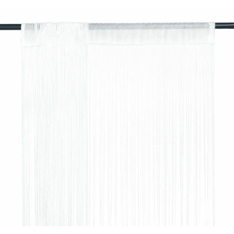 """main image of """"Cortinas de flecos 2 piezas 100x250 cm blancas"""""""